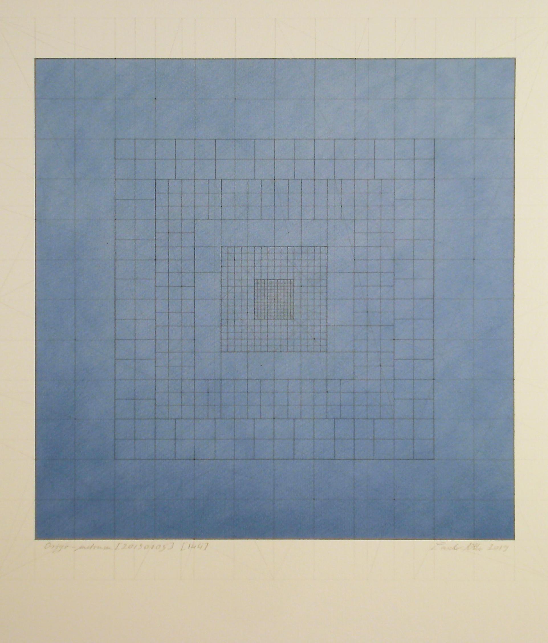 Origo-metrum [20190105], pencil on paper, color pigment, 27 5/8 x 19 11/16 in. [70x50cm]