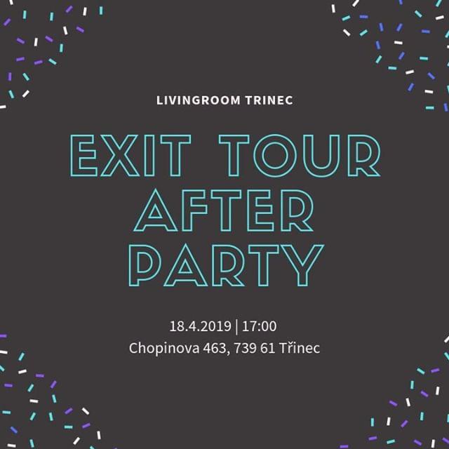 Tak, víkend je tady a dneska máme EXIT Tour AFTER PARTY pod vedením našich přátel z Norska. Moc rádi vás tam všechny uvidíme!