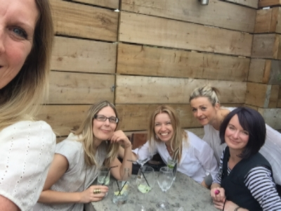 Me, Lou, Dee, Tina, Pie and four rounds of gin and tonics