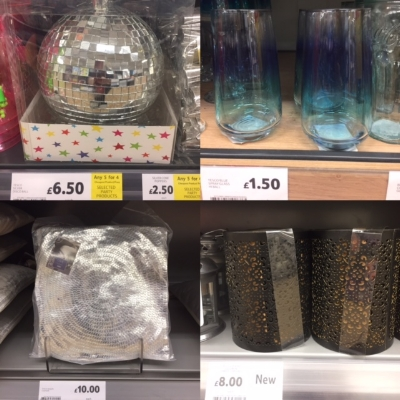 Clockwise from left: The only disco ball left in the UK that hasn't been on Instagram yet, ombre tumblers, set of three (inside) copper and black candle holders, VERY nice sequin cushion that I was sorely tempted by but would struggle to justify since I can't even sit on my sofa for overload.