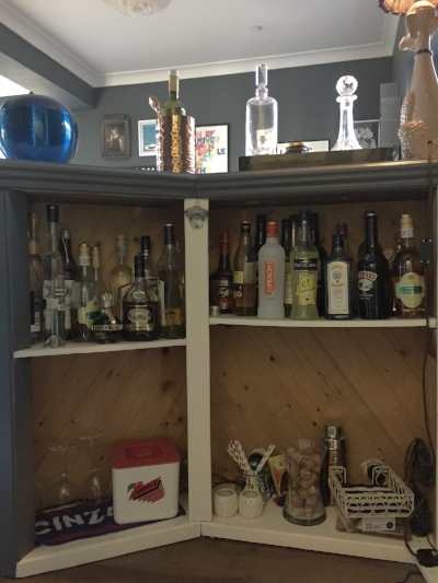 You get the gist. Very basic shelf structure. Poor drinks selection and some spiders.