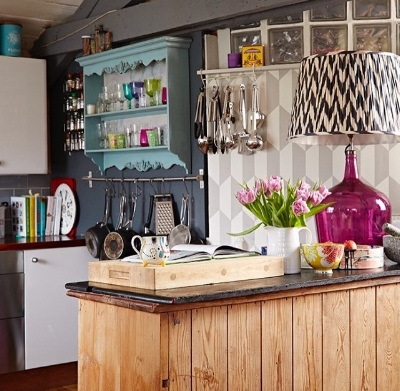 Sophie's cool and quirky kitchen.