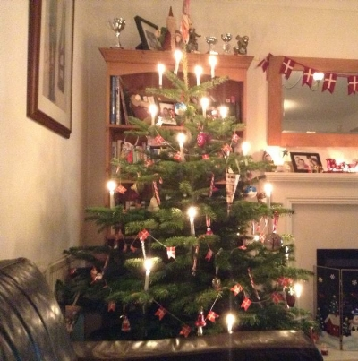 Danish real candle tree belonging to my naturally stylish friend Marie