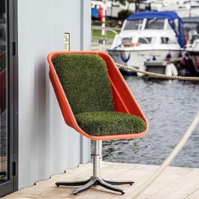Upcycled wheelbarrow chair. Love this.