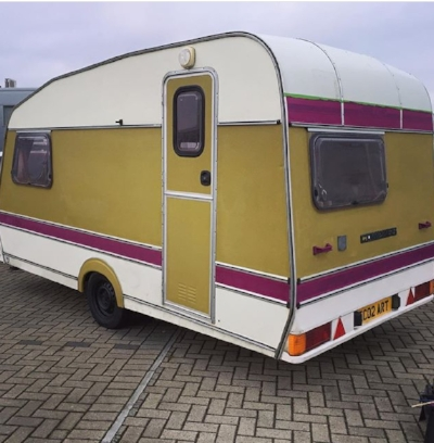 One of Max's current projects - an upcycled caravan portable soup kitchen.