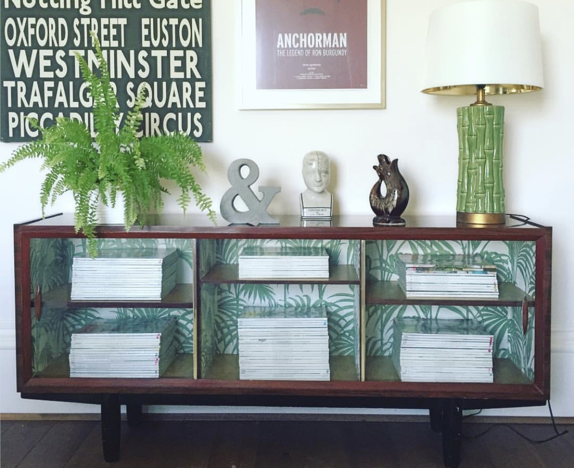 Two easy upcycling projects using Julien Macdonald  Honolulu  print and B&Q  Fern & Flowers  print.