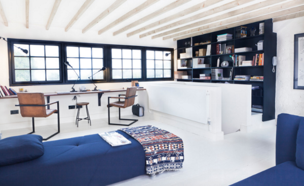 Stunning home office created in the loft space.