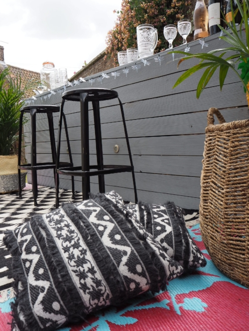 These cushions from Sweetpea & Willow are perfect for inside and outside.