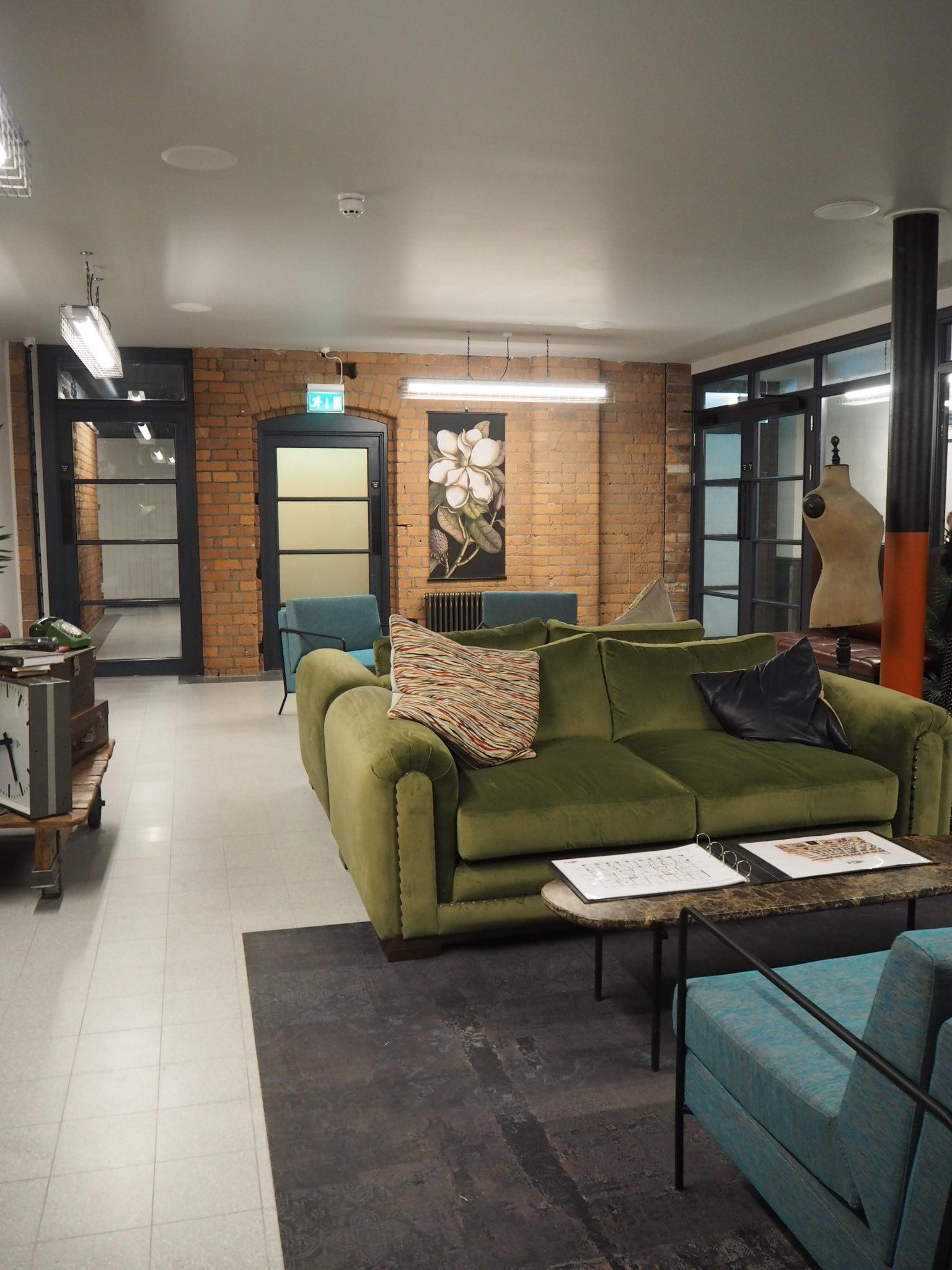 Modern reception area.