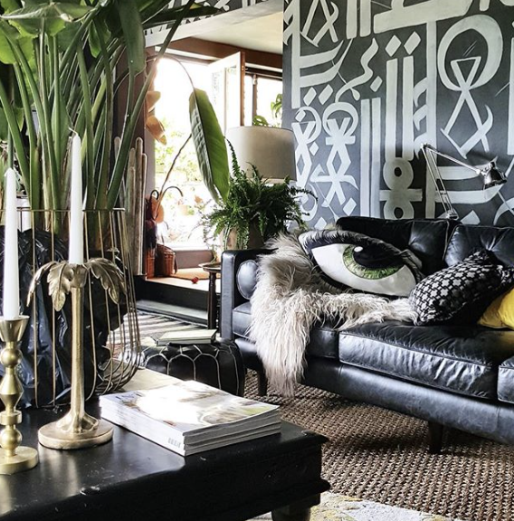 Fabulous wall mural by  Cowboy Kate  inspired by the street artist  Retna .