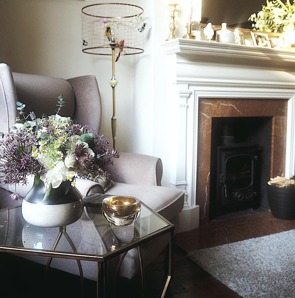 A perfectly styled and edited corner in the home of  Melanie Lissack .