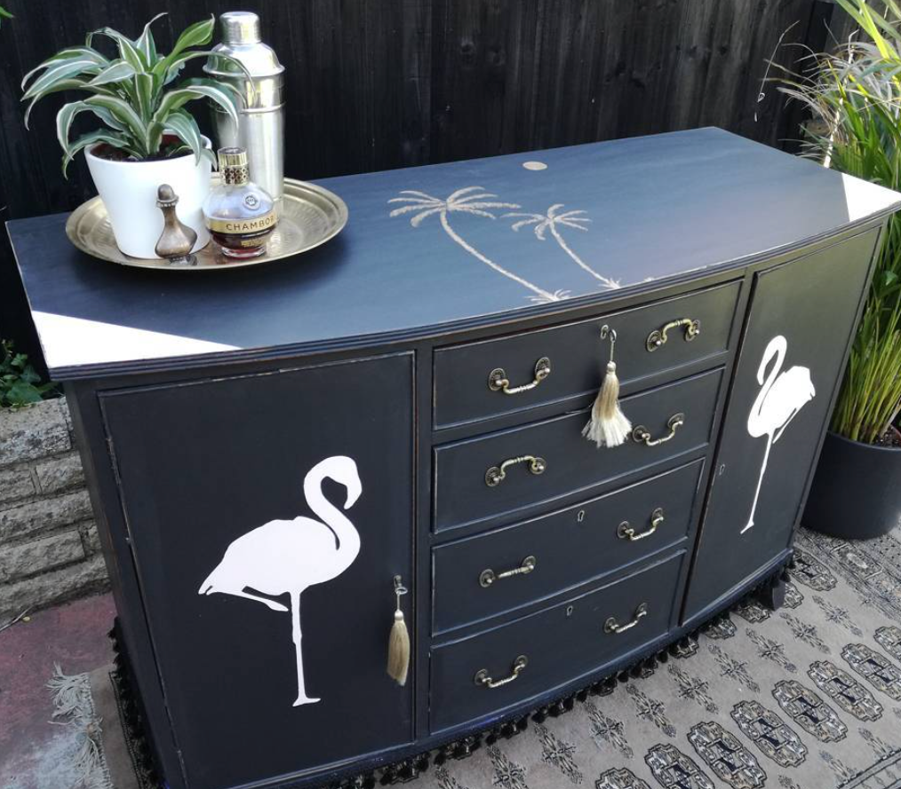 Perfect upcycling transforms this old dresser. Sophie of  Bourjois Biscuit .