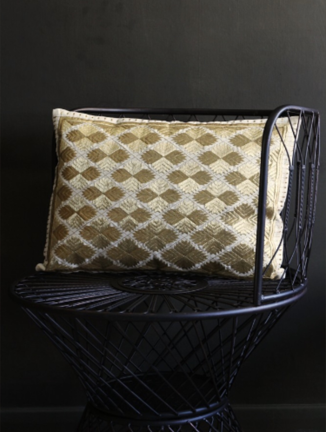 4.   Marrakech Diamonds Cushion - Rectangle Gold Metallic   £39.50. Modern take on the Moroccan cushion really gives this an edge.