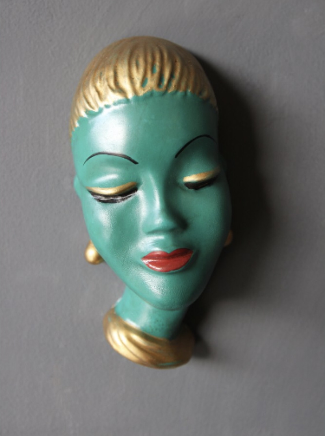 6.   Blue Lady Head Wall Hanging   £10.95.  Tretchikoff inspired, I love this quirky piece.