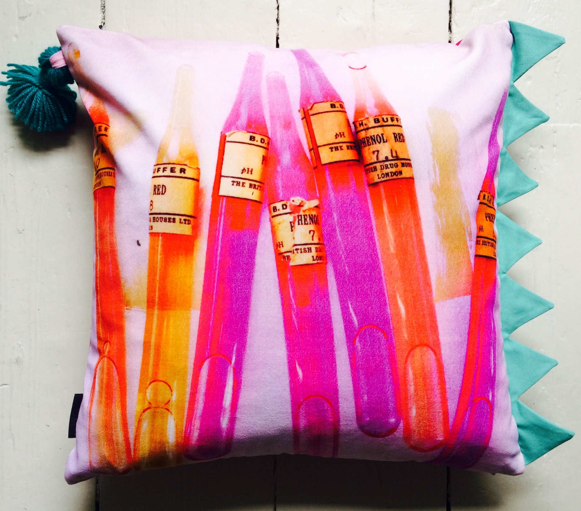 Pink Sundae Velvet Cushion , Lucy Tiffney £98