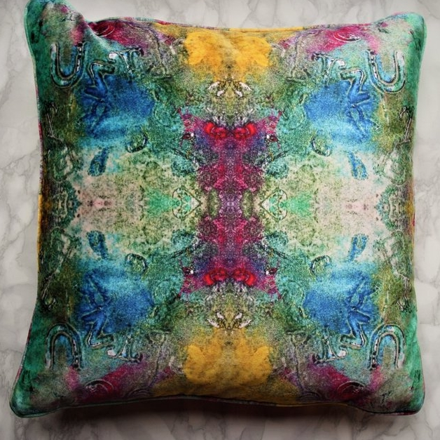 Alpha Velvet Cushion , Evelle Home for Joyful Home Company £85