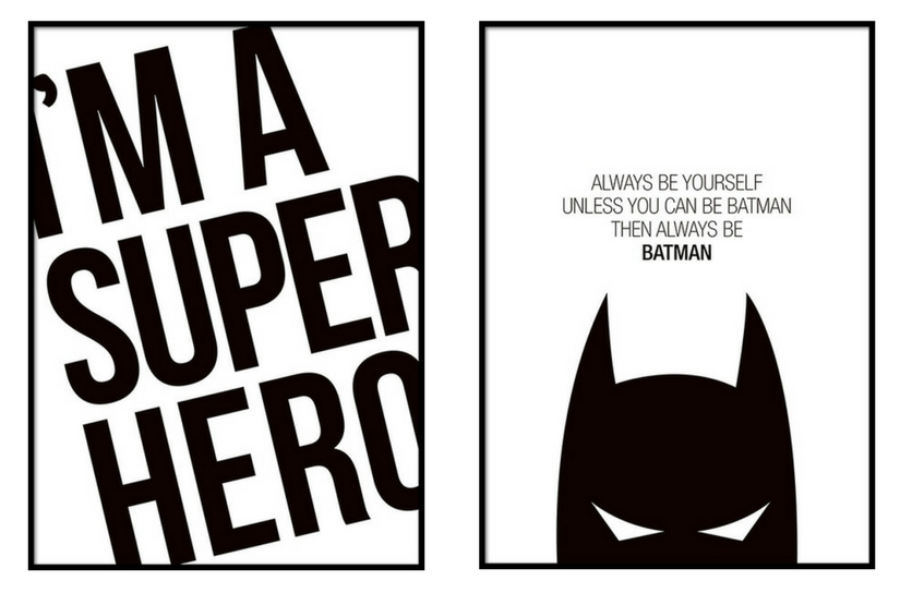 Super Hero prints,  Desenio
