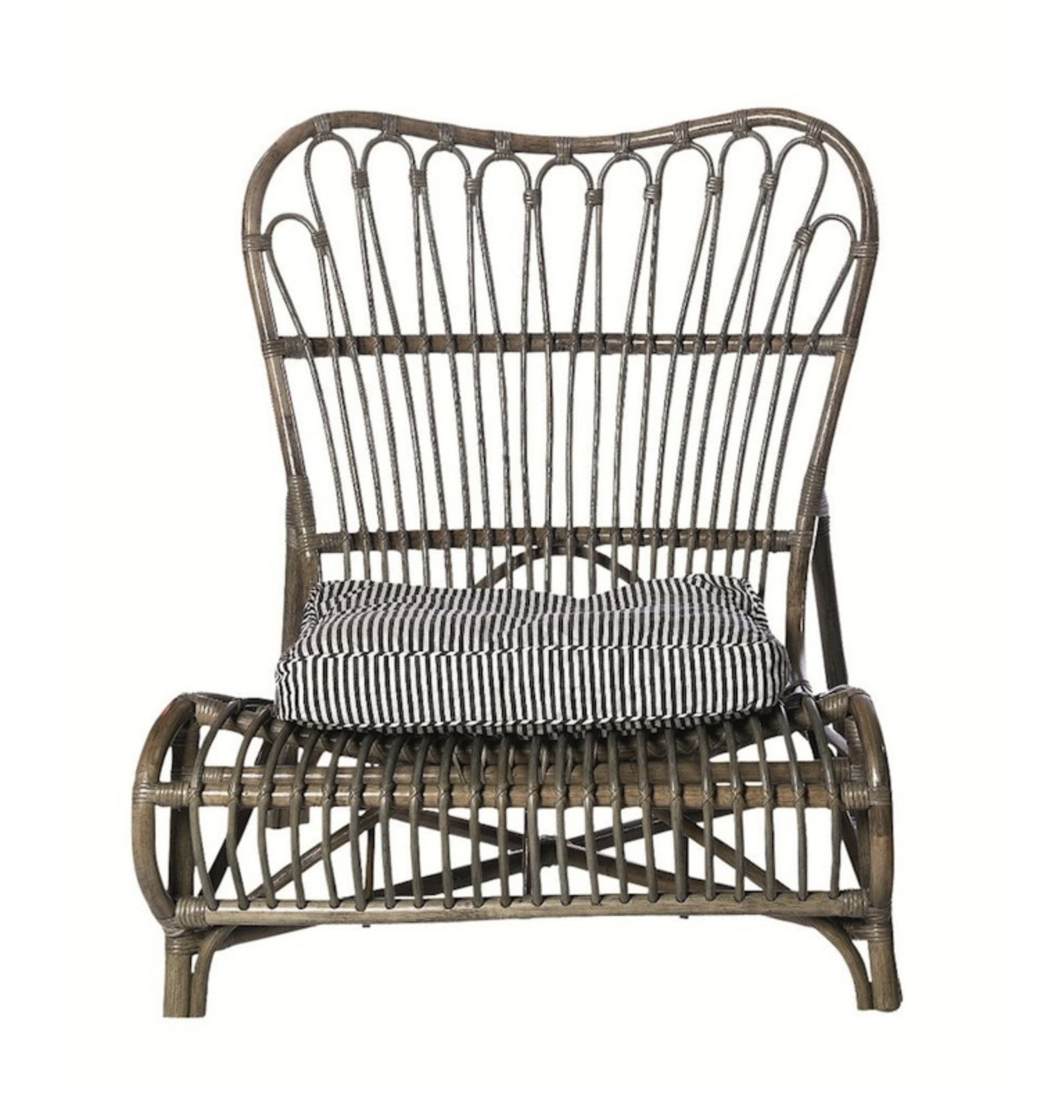 Lacquered Walnut Rattan Chair , Alexander & Pearl £245