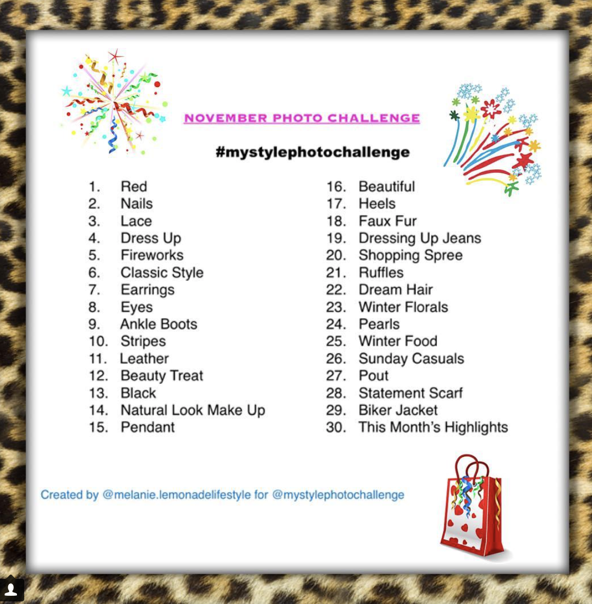 The founding Instagram hashtag game tag -  #mystylephotochallenge
