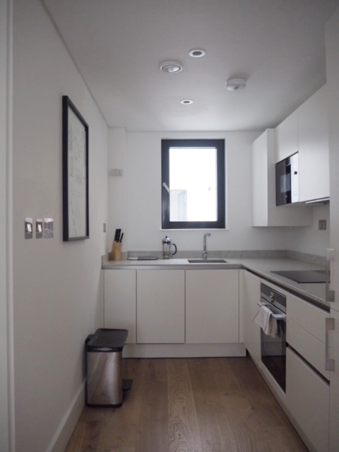 The bright and well thought out kitchen is ideal.