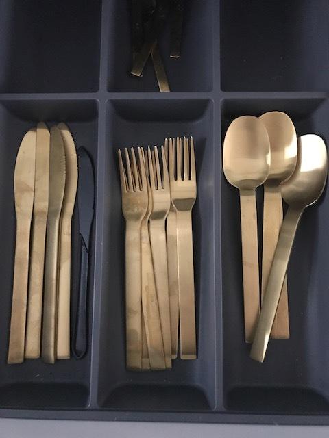 Everyone needs gold cutlery.