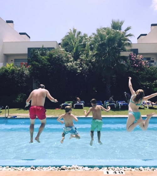 We literally live for our family holidays. There is nothing we enjoy more.