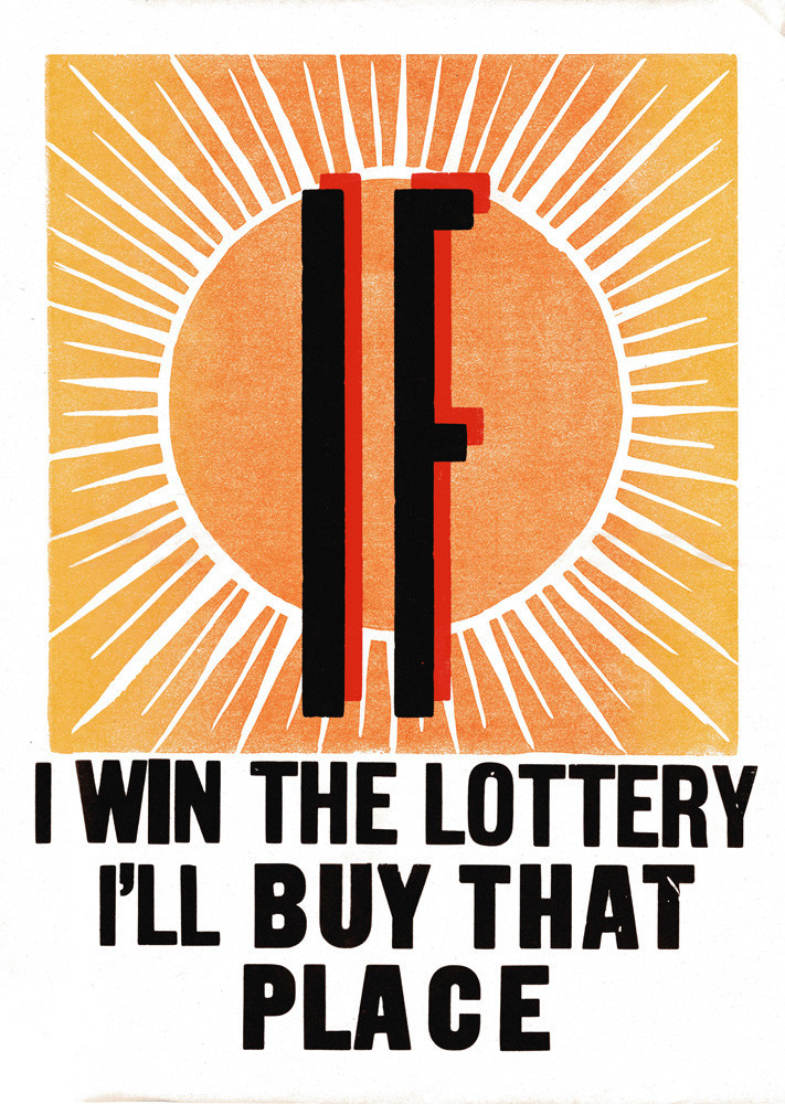 Helen Ingham for King & Mcgaw,  'If I Win The Lottery' - £15