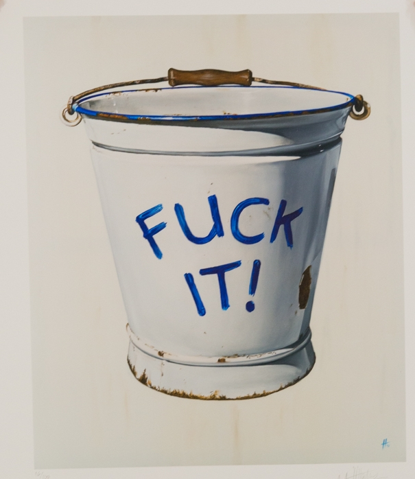 H for Art Of Protest Gallery , 'Fuck It Bucket' Limited Edition of 100 - £195