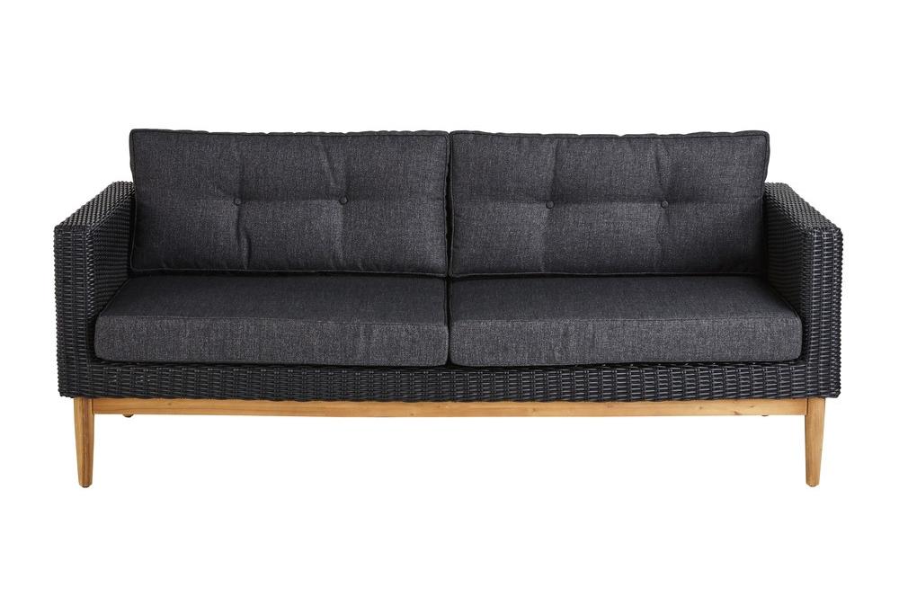 Maisons Du Monde -  Black resin three seater sofa £734