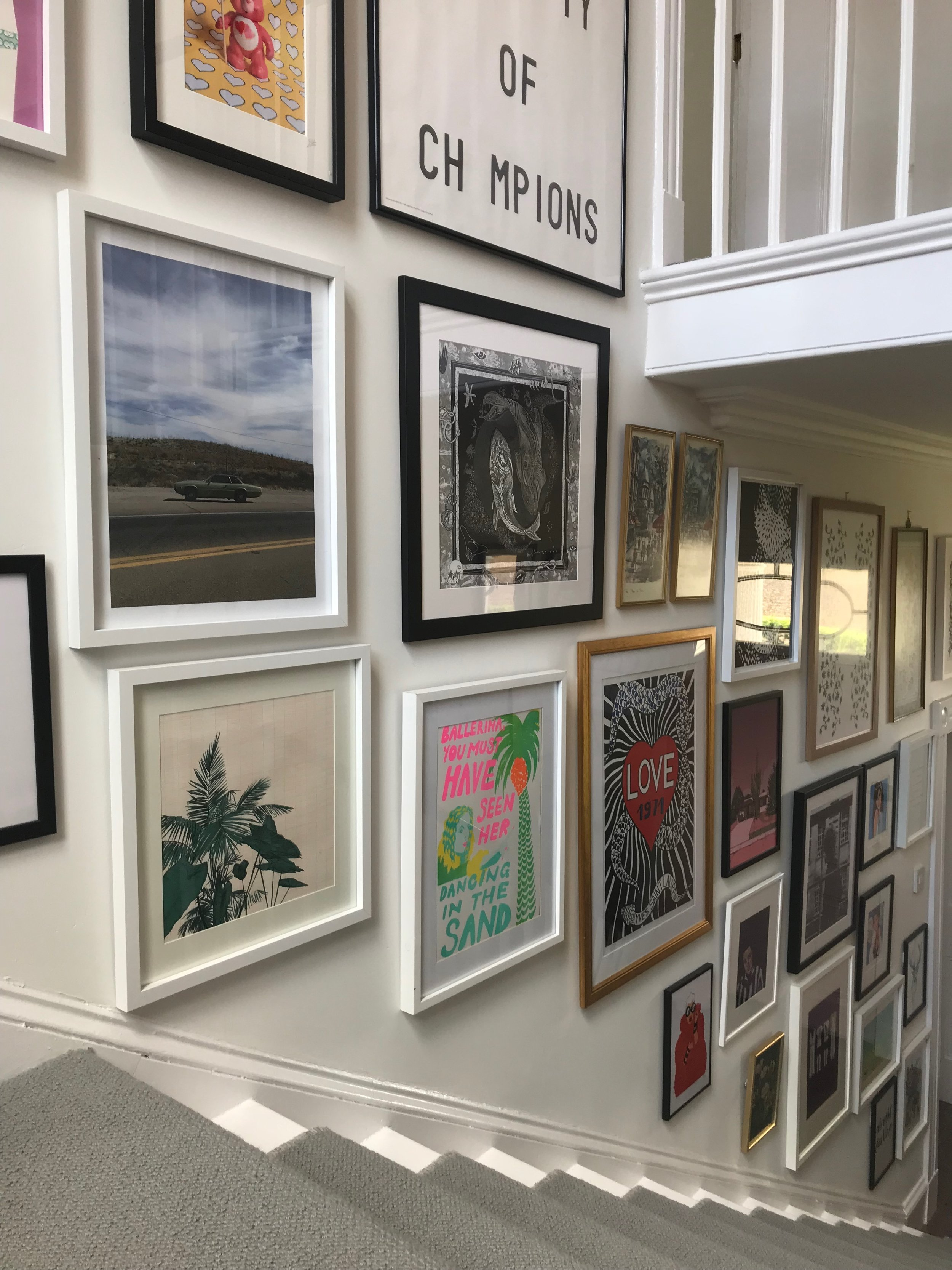 My staircase gallery wall.