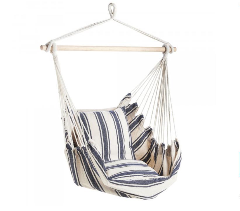 Von Haus Striped Hanging Chair   Domu £34.99