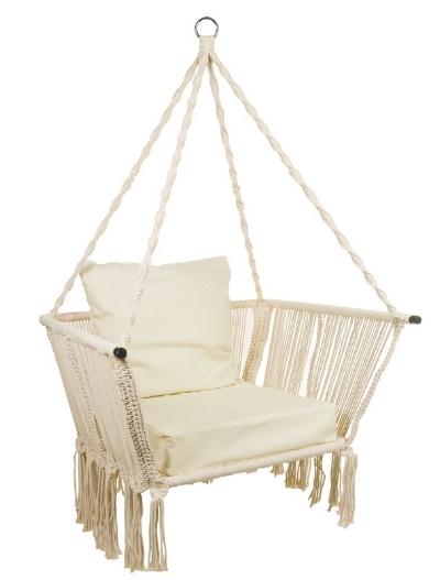 B  retta Rope Hanging Chair   Wayfair £126.99
