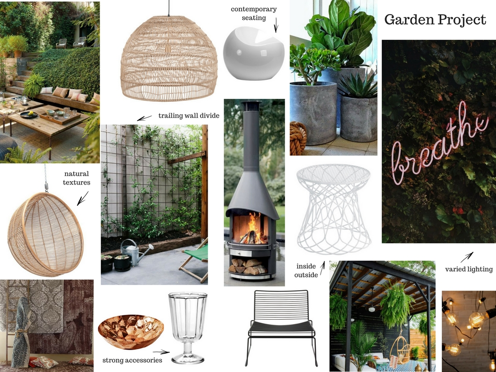 My mood board plans for outdoors.