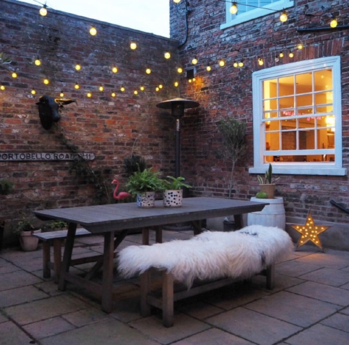 Courtyard or outdoor cinema space? Oh yes.
