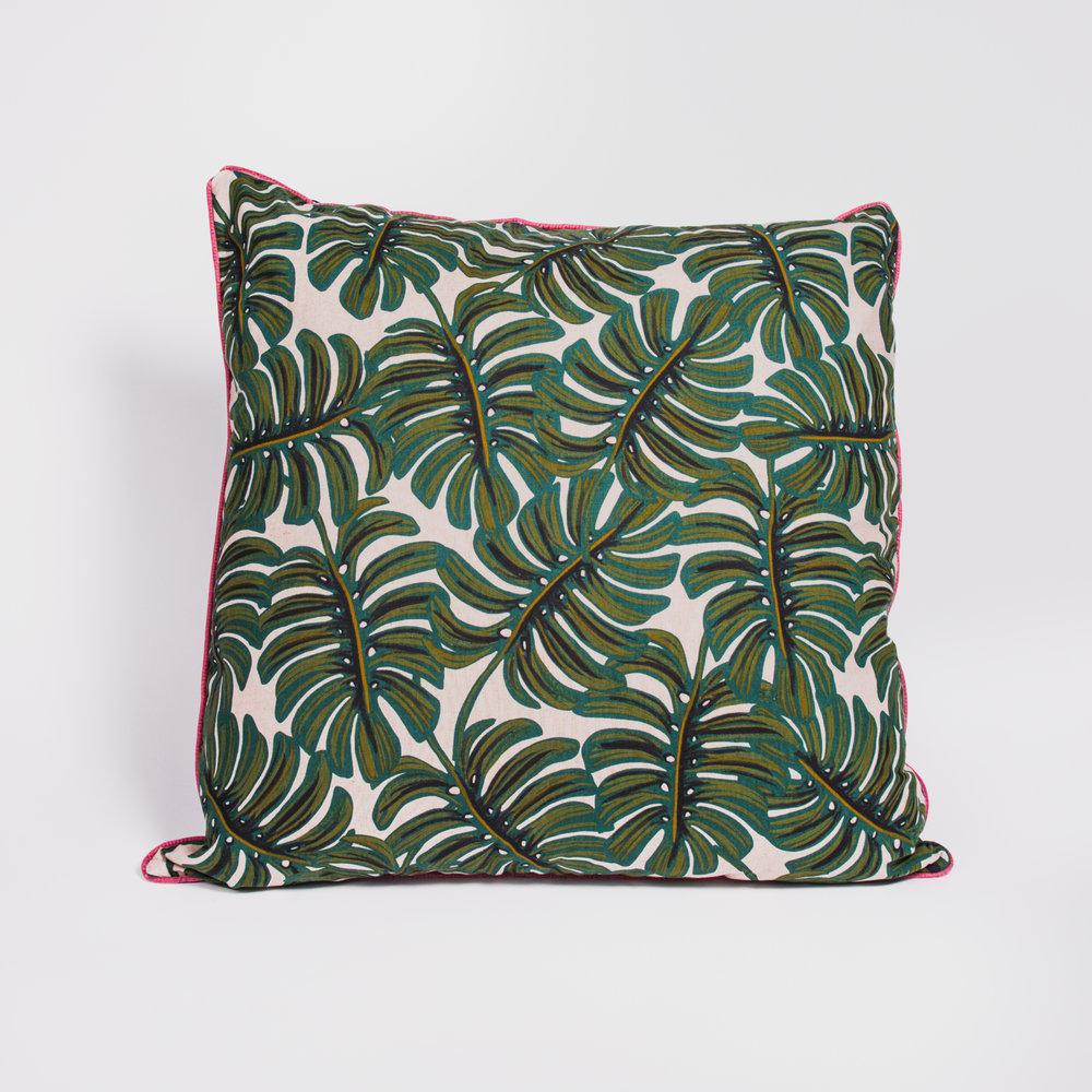 Large Monstera Cushion , Poppy & Honesty £52