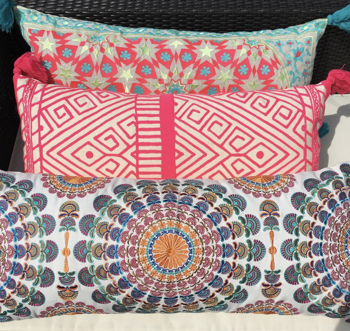 Jaipur Neon Cushion , The Effortless Trading Company £42