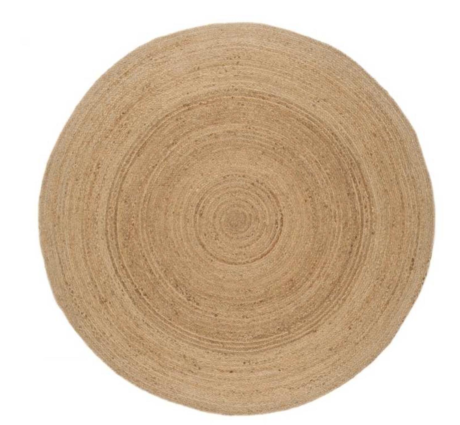 Faro Jute Natural Circle Rug , Modern Rugs £119