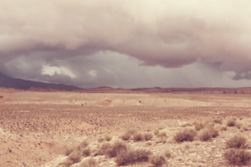 Desert Rain Canvas - Surface View