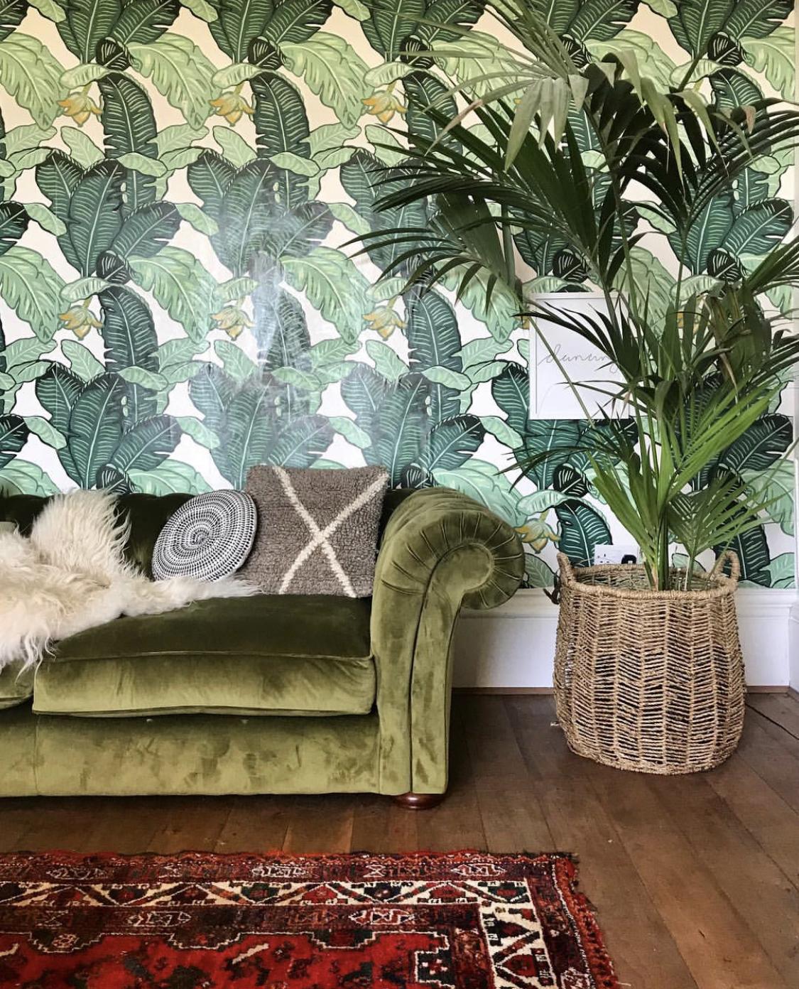The fabulous Feuiles De Luxe wallpaper from  The Loft & Us .