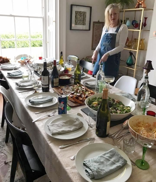 My dinner parties always start out looking civilised and then deteriorate.