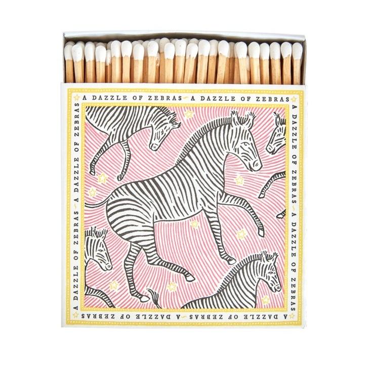 A Dazzle Of Zebras Matchbox  - £10  Polkra