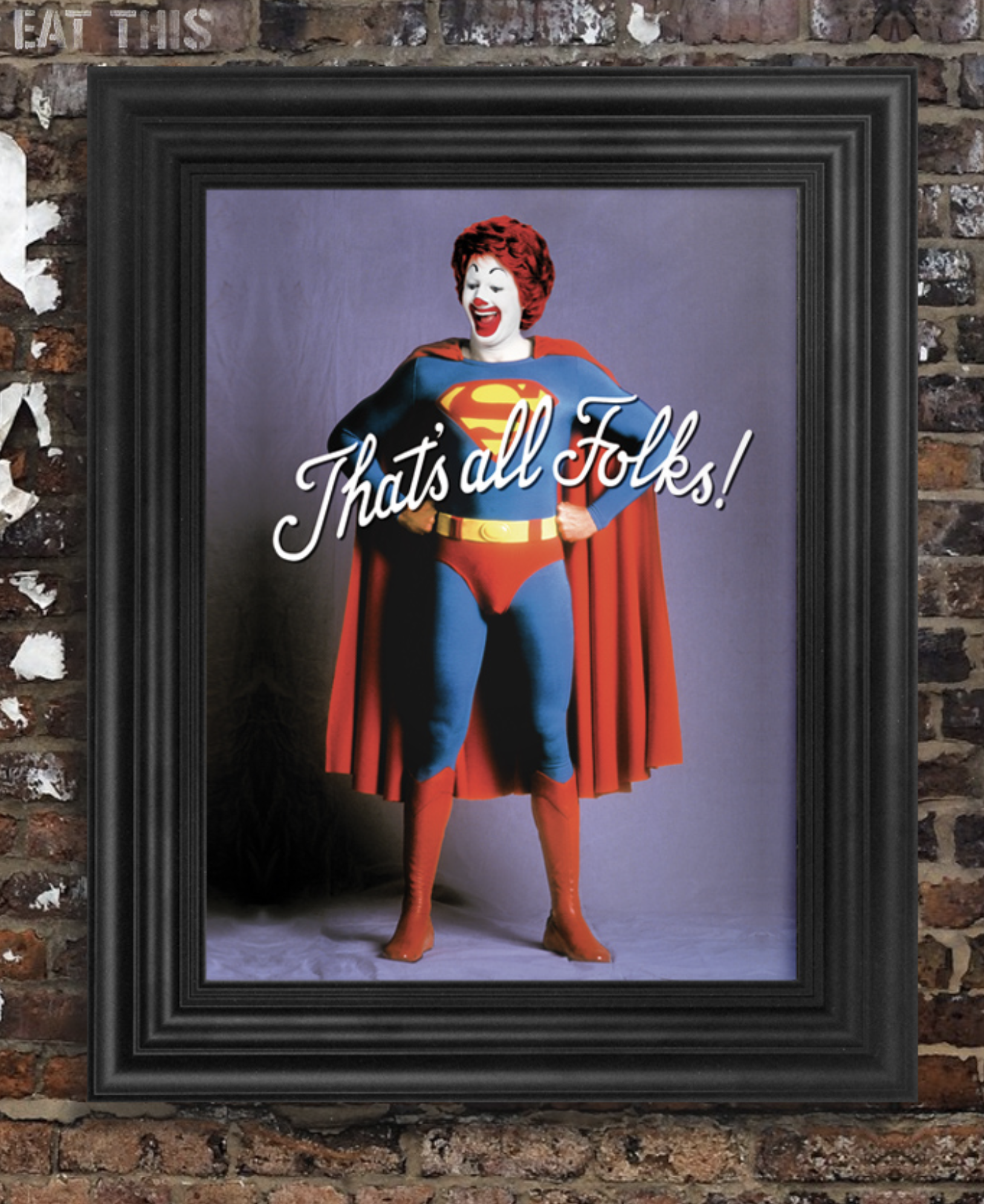 That's All Folks Print (Unframed)  - £20  Light Up North