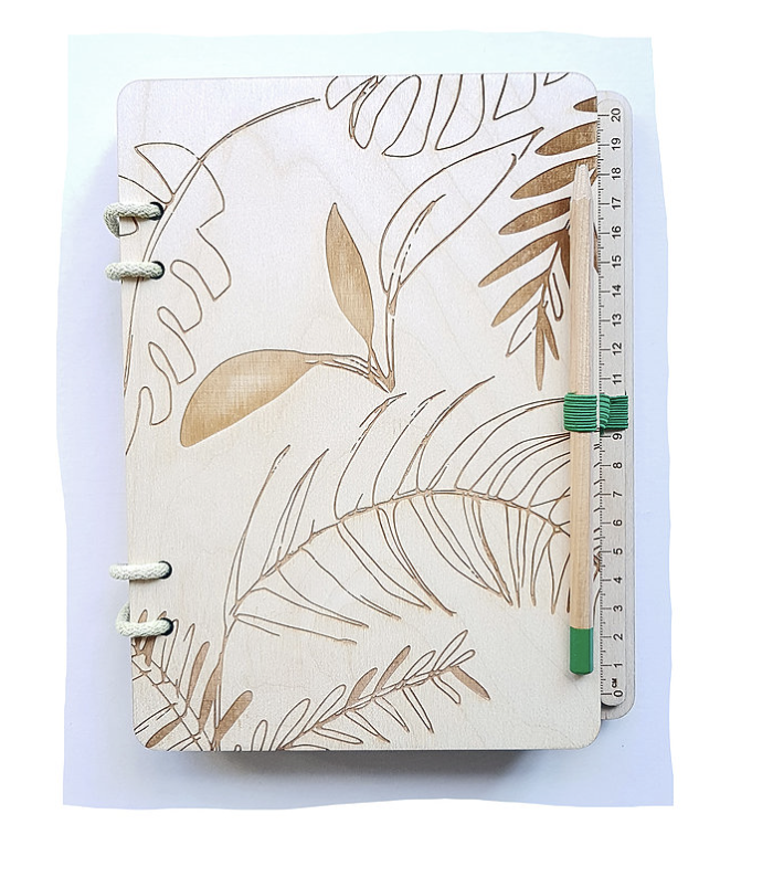Waxed Natural Birch Ply A5 Notebook (Refillable)  - £29  Assis! By Ilj