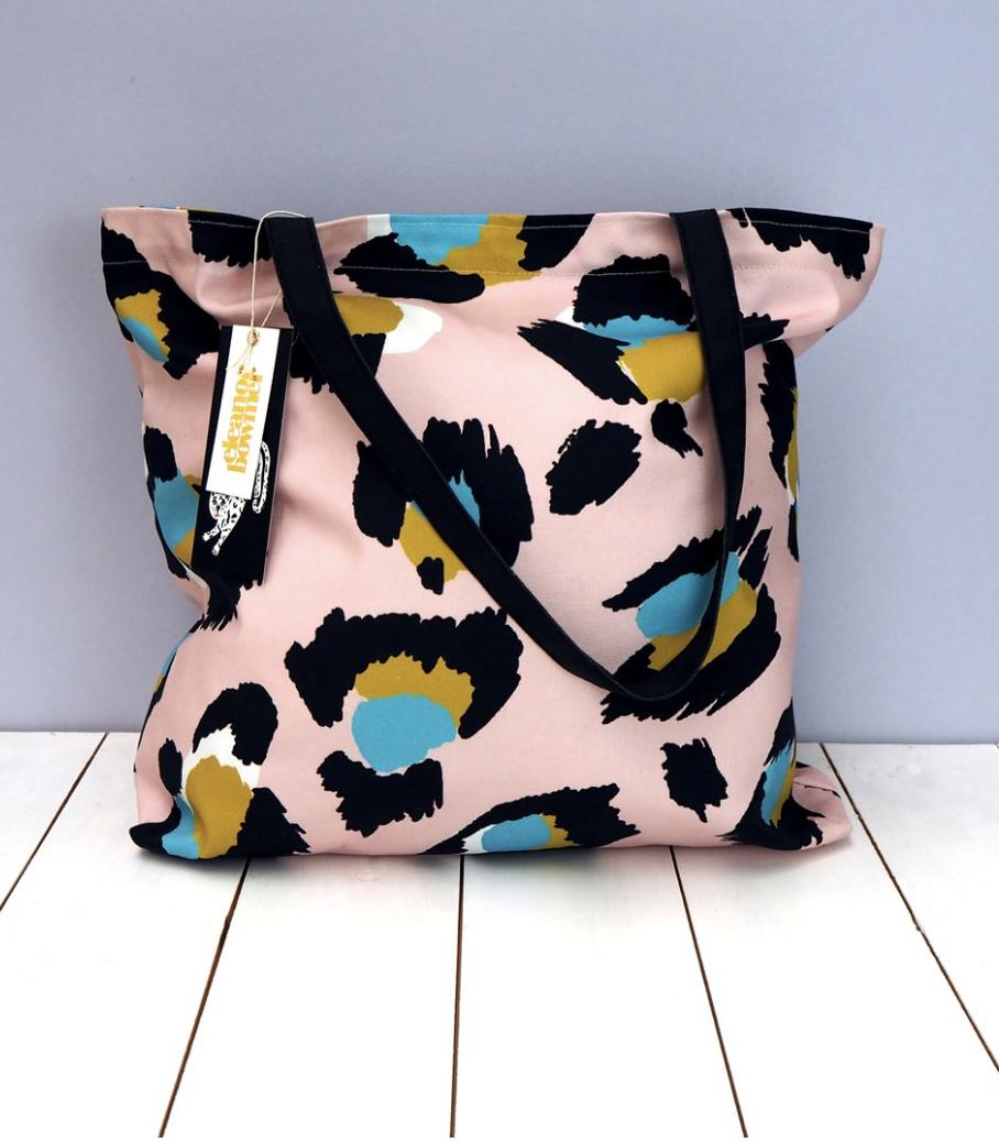 Large Pink Leopard Print Tote Bag  - £24  Eleanor Bowmer