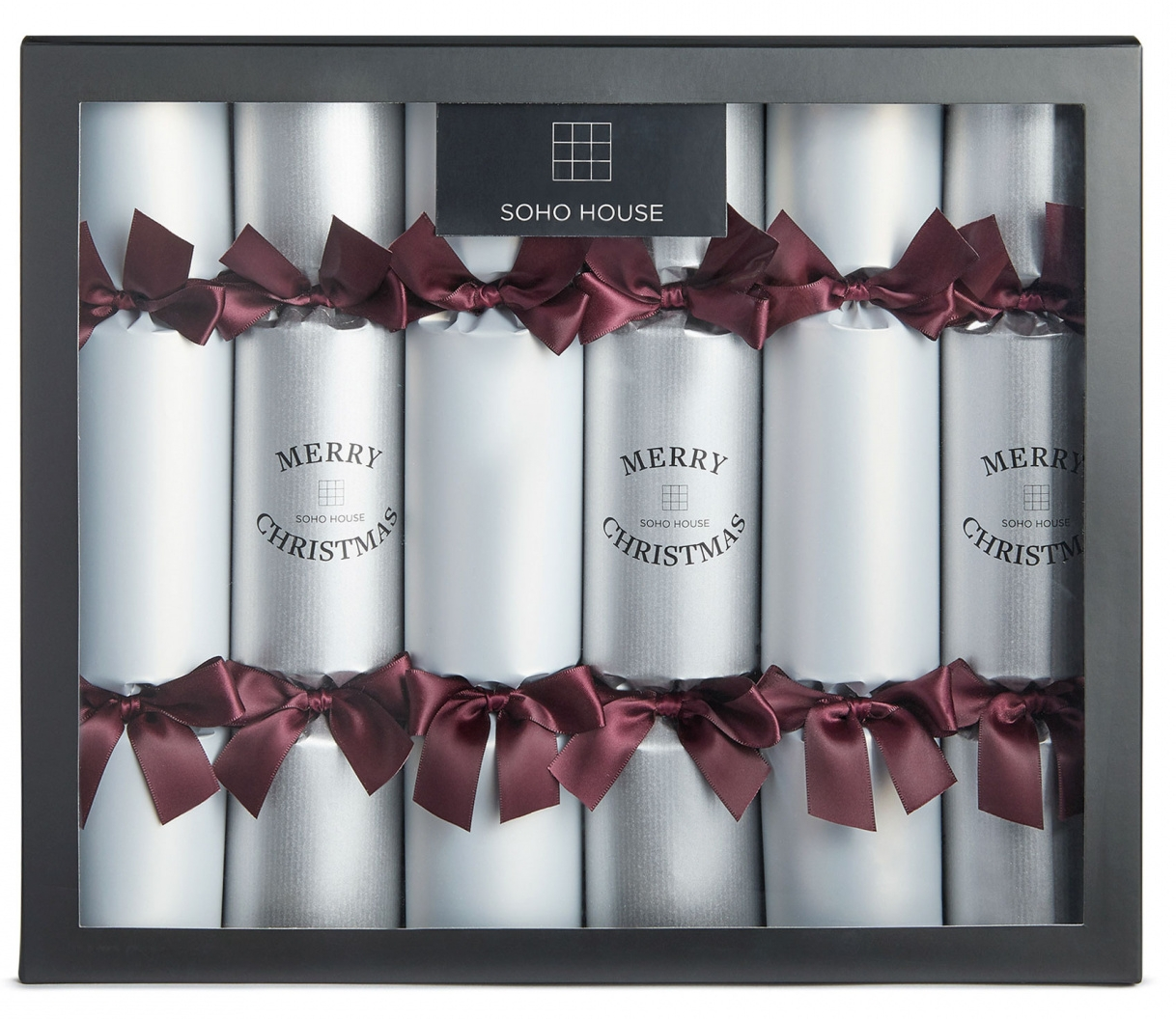 Silver & Purple Crackers   Soho Home - £25 for six