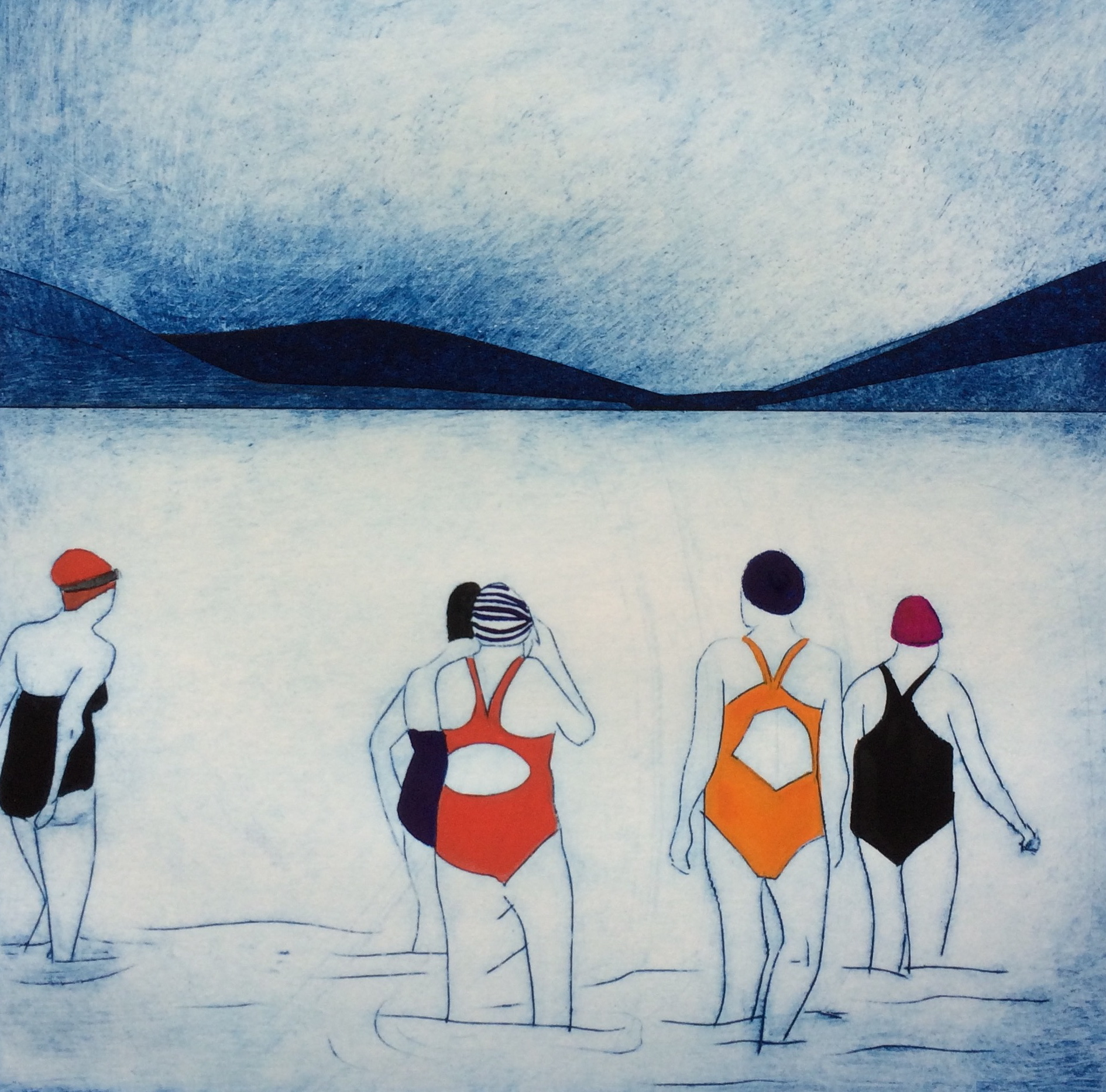 Swim Club - Sarah Morgan, Rostra Gallery   £80 - Edition of 25