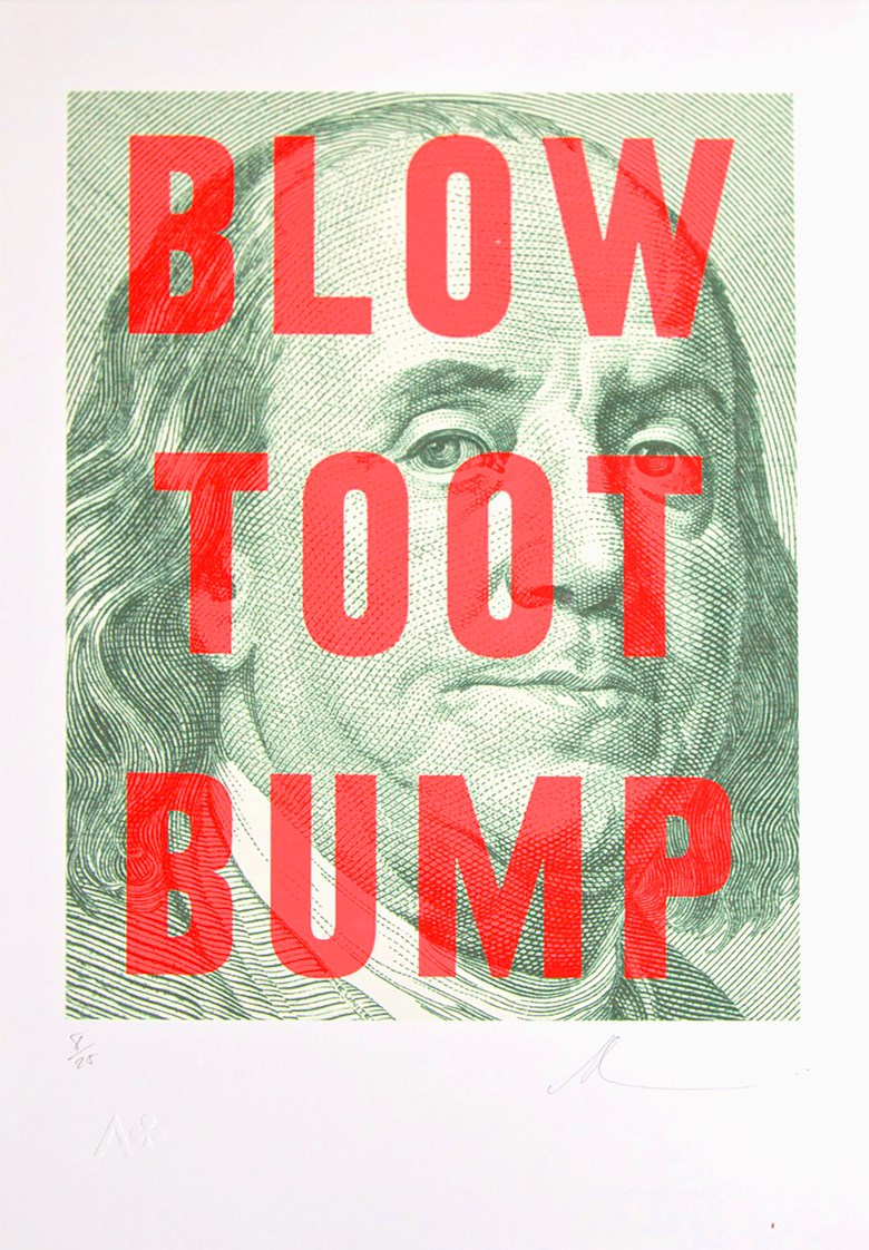 Blow Toot Bump - Dave Buonaguidi, Ace Club   £100 - Edition of 25