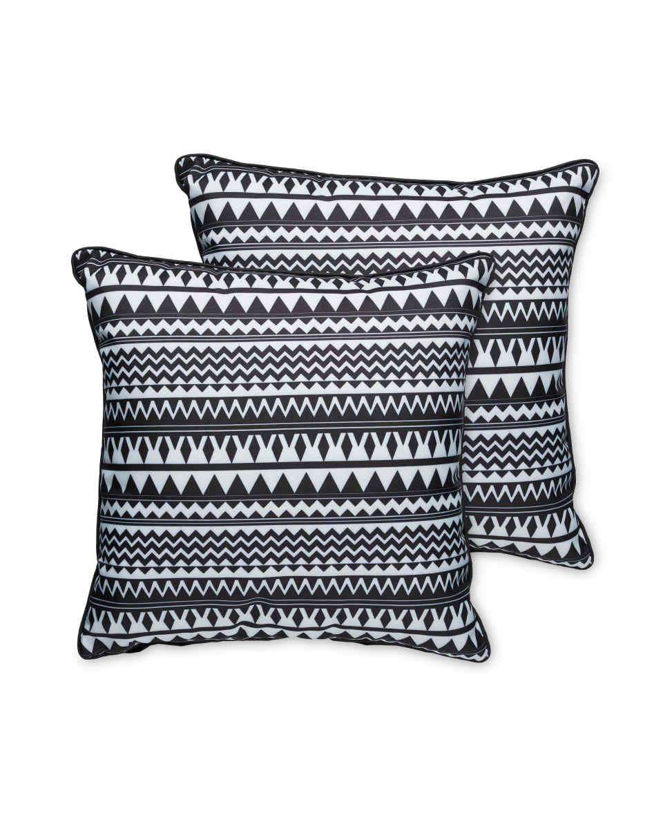 Geo Black Outdoor Cushion Pair - £11.98