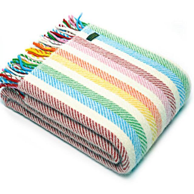 Tweedmill Lifestyle Rainbow Striped Throw - £50