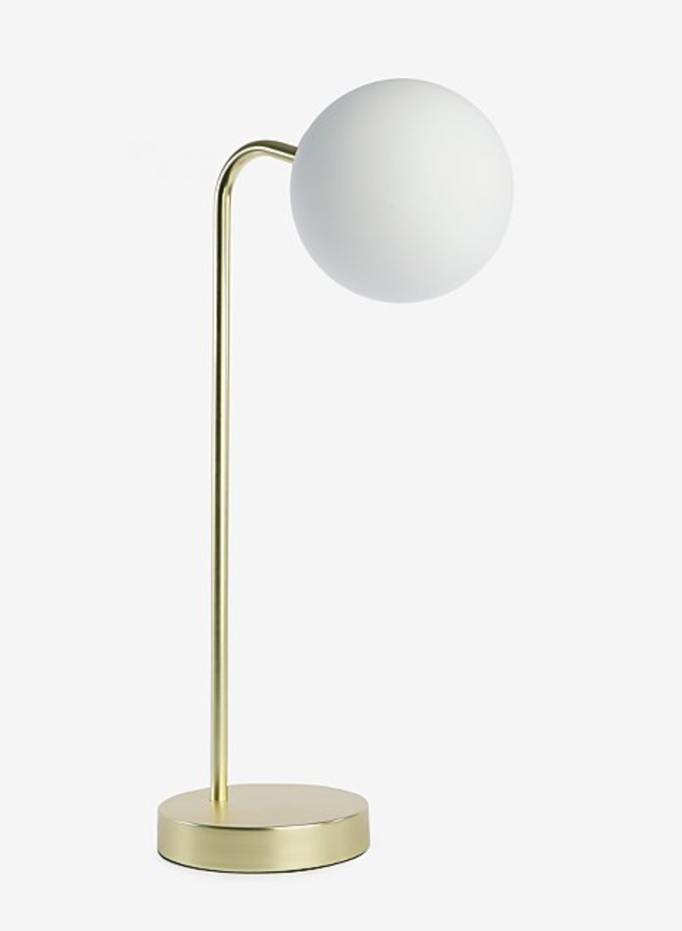 Gold Effect Curved Desk Lamp - £20